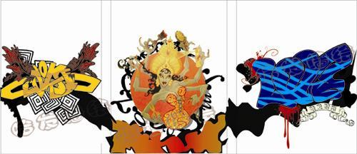 南京墙绘案例实景漫画人物篇—哈发墙体彩绘