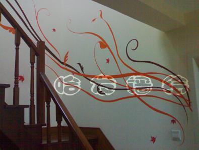 手绘墙画开始流行 画一面彰显创意和灵感的墙(图)